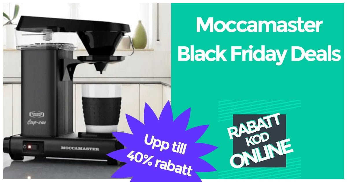 Black Friday Moccamaster Rea